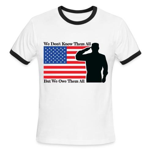 Owe Them All Ringer T-Shirt - Men's Ringer T-Shirt