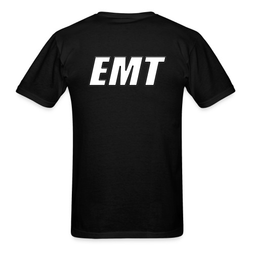 EMT White on Black - Men's T-Shirt