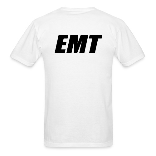 EMT Black on White - Men's T-Shirt