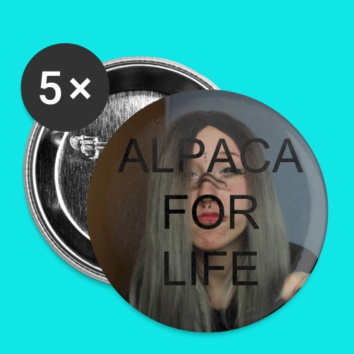 alpaca for life buttons - Small Buttons