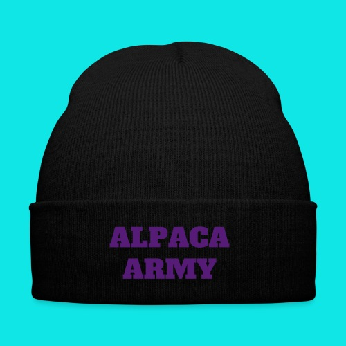 Alpaca army - hat thingy - Knit Cap with Cuff Print