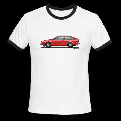 Alfetta GTV Turbodelta - Men's Ringer T-Shirt