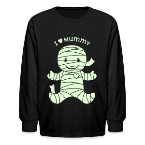 I Heart Mummy Halloween - Kids' Long Sleeve T-Shirt