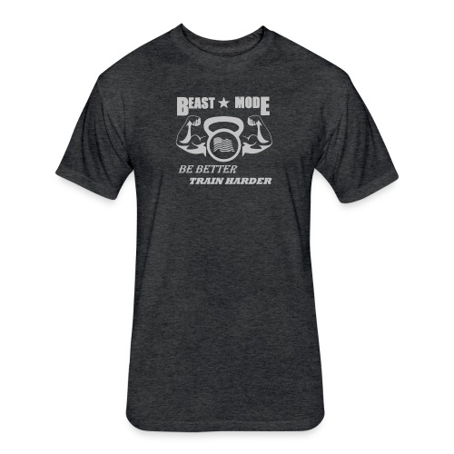 BEAST MODE Tri-Blend Gym Shirt - Fitted Cotton/Poly T-Shirt by Next Level
