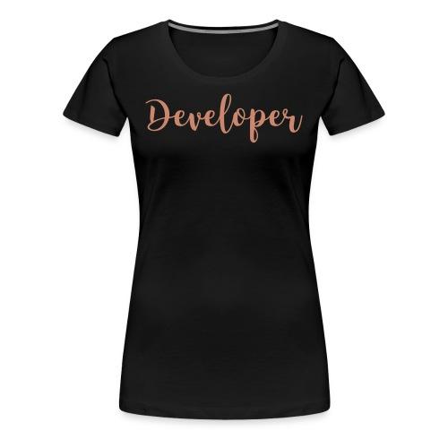 pink glitz - developer - Women's Premium T-Shirt