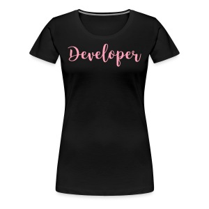 pink - developer - Women's Premium T-Shirt