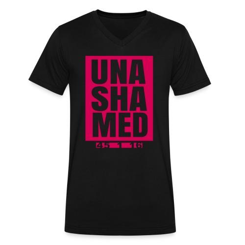 Unashamed Men's V-Neck - Men's V-Neck T-Shirt by Canvas