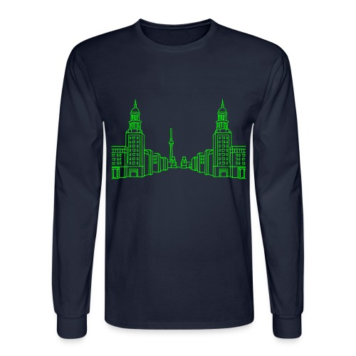 Frankfurter Tor Berlin (neon green) - Men's Long Sleeve T-Shirt