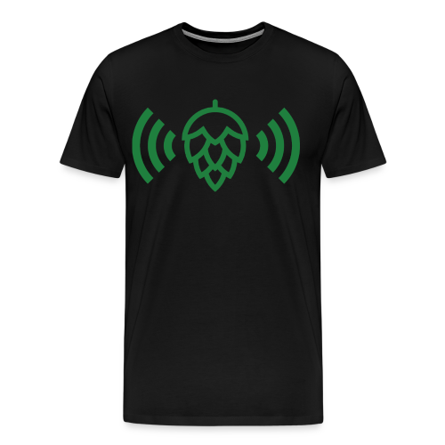 Hop Radio Tee w/ Green Logo - Men's Premium T-Shirt