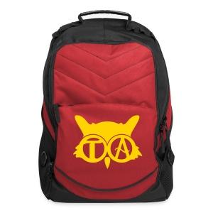 Computer Backpack - Red/Black/Gold - Computer Backpack