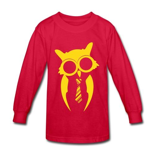 Kids Long Sleeve - Red/Gold - Kids' Long Sleeve T-Shirt