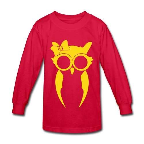 Kids (Girl) Long Sleeve - Red/Gold - Kids' Long Sleeve T-Shirt