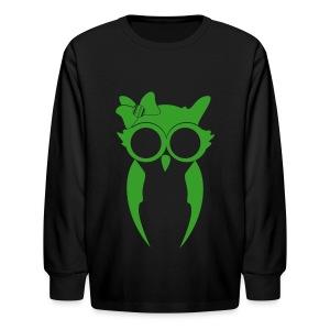 Kids (Girl) Long Sleeve - Green/Black - Kids' Long Sleeve T-Shirt