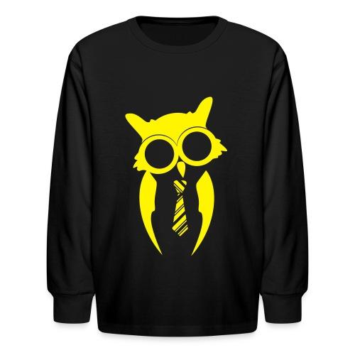 Kids Long Sleeve - Yellow/Black - Kids' Long Sleeve T-Shirt