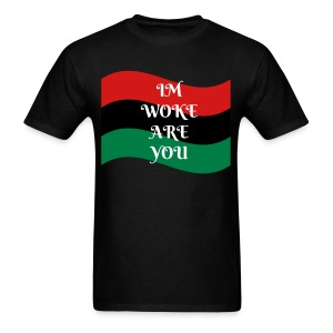 PAN AFRO FLAG/ Im Woke - Men's T-Shirt