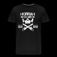 T-Shirts ~ Men's Premium T-Shirt ~ Men's Black Horrah Club T-Shirt
