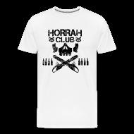T-Shirts ~ Men's Premium T-Shirt ~ Men's White Horrah Club T-Shirt