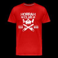 T-Shirts ~ Men's Premium T-Shirt ~ Men's Red Horrah Club T-Shirt