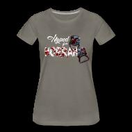 T-Shirts ~ Women's Premium T-Shirt ~ Woman's Gray Horror Hype T-Shirt