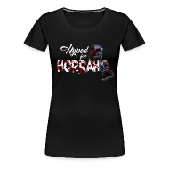 T-Shirts ~ Women's Premium T-Shirt ~ Woman's Black Horror Hype T-Shirt