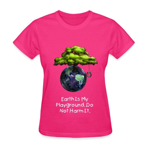 Earth Is My Playground - Women's T-Shirt