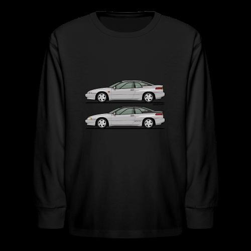 SVX Liquid Silver Duo - Kids' Long Sleeve T-Shirt