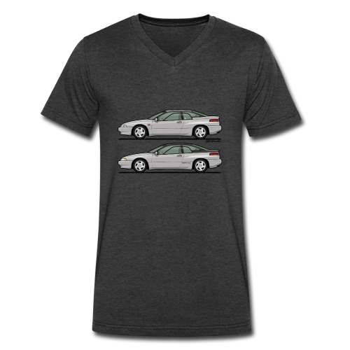SVX Liquid Silver Duo - Men's V-Neck T-Shirt by Canvas