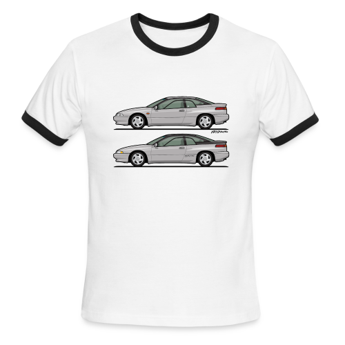 SVX Liquid Silver Duo - Men's Ringer T-Shirt