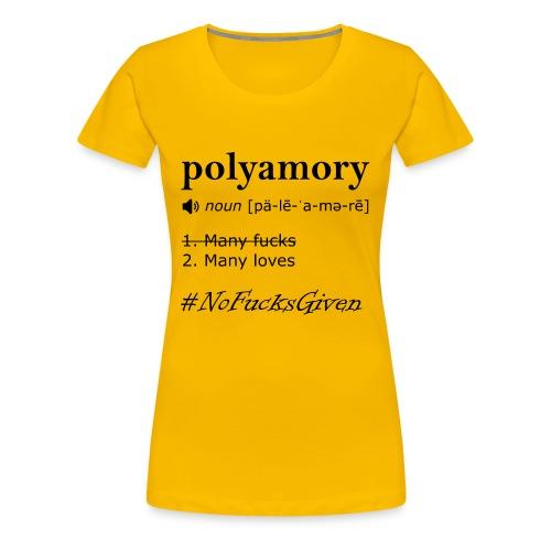 No F*cks Given - Women's Shirt - Women's Premium T-Shirt