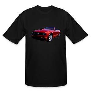 5th Gen Mustang Convertible Men Tall & Big - Men's Tall T-Shirt