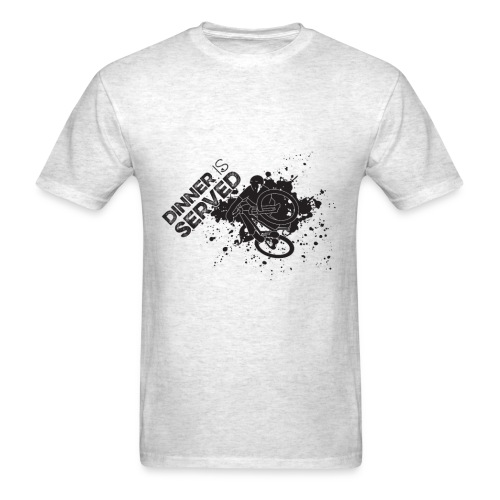 Dinner is Served T-Shirt Dark graphic - Men's T-Shirt