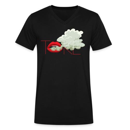 Smoking Lips - Men's V-Neck T-Shirt by Canvas