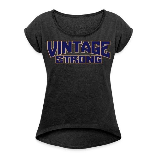 Workout Boxy Tee - Women's Roll Cuff T-Shirt