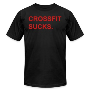 Crossfit Sucks Red - Men's T-Shirt by American Apparel