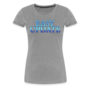 Easy Update Logo Blue - Women's Premium T-Shirt