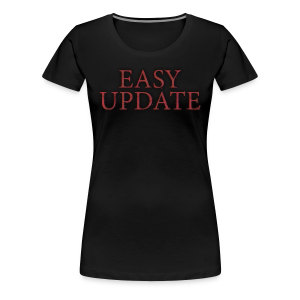 Easy Update Logo Red - Women's Premium T-Shirt