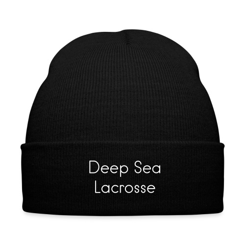 Deep Sea Lacrosse Beanie - Knit Cap with Cuff Print