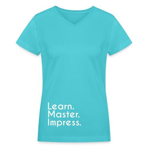 Slogan V-Neck - Women - Women's V-Neck T-Shirt