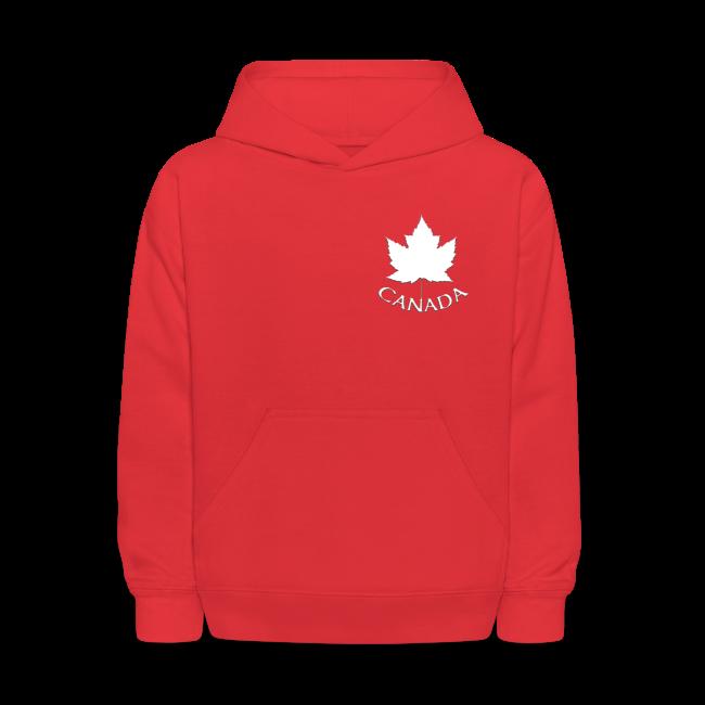 Kid's Canada Hoodies Maple Leaf Souvenir Canada Sweatshirts