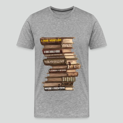 AMW Book Stack  4.0 (Premium ) - Men's Premium T-Shirt