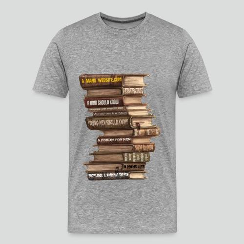 AMW Book Stack  4.0 (Premium ) - Men's Premium T-Shirt