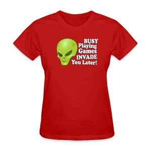 Alien Playing Games - Women's T-Shirt