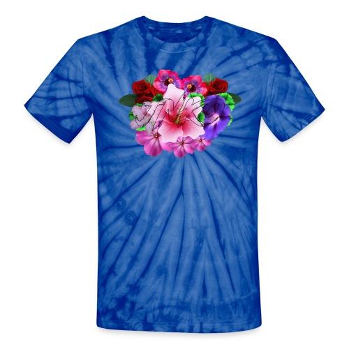 Tie Dye Flower - Unisex Tie Dye T-Shirt