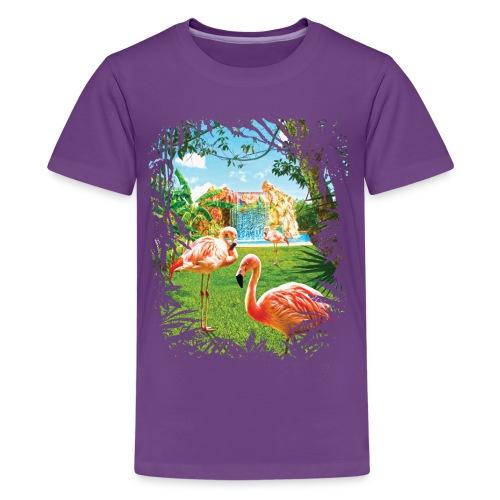 Pink Flamingo Paradise - Kids' Premium T-Shirt