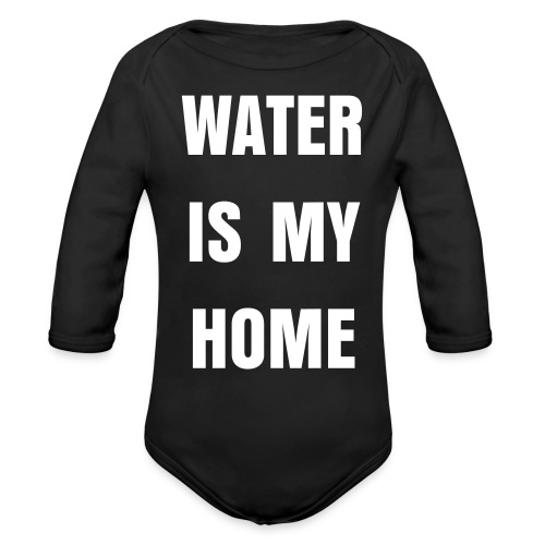 Water Is My Home Onsie - Organic Long Sleeve Baby Bodysuit