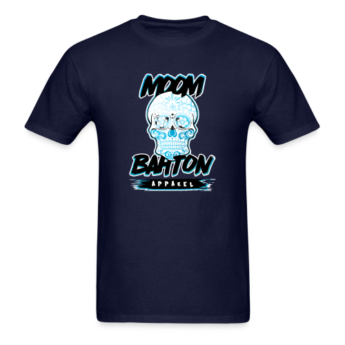 Mens Sugar Skull (Blue) - Men's T-Shirt