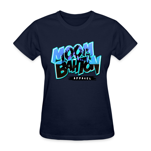 Ladies Moombahton Apparel (Blue) - Women's T-Shirt