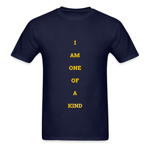 MEN I AM OOAK SHIRT BLUE/GOLD - Men's T-Shirt