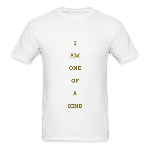 MEN I AM OOAK SHIRT WHT/GOLD - Men's T-Shirt