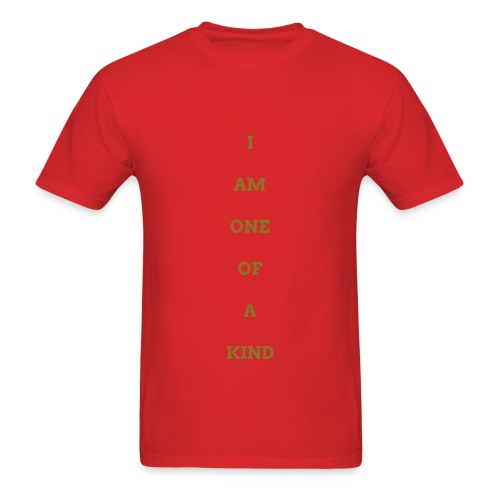 MEN I AM OOAK SHIRT RED/GOLD - Men's T-Shirt